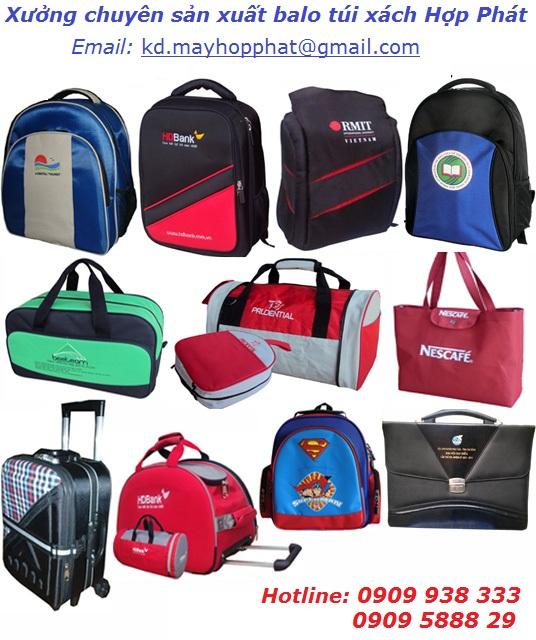 Chuyên may sản xuất balo quà tặng, laptop, túi xách quảng cáo giá rẻ