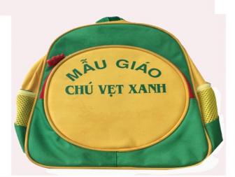 Balo đồng phục trường mẫu giáo Chú Vẹt Xanh
