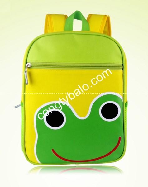 Balo trẻ em hình thú ếch xanh
