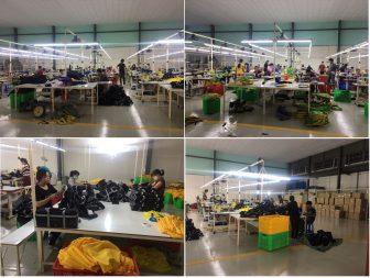 Quy mô sản xuất balo túi xách lớn