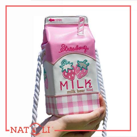 May Túi Xách Hình Hộp Sữa