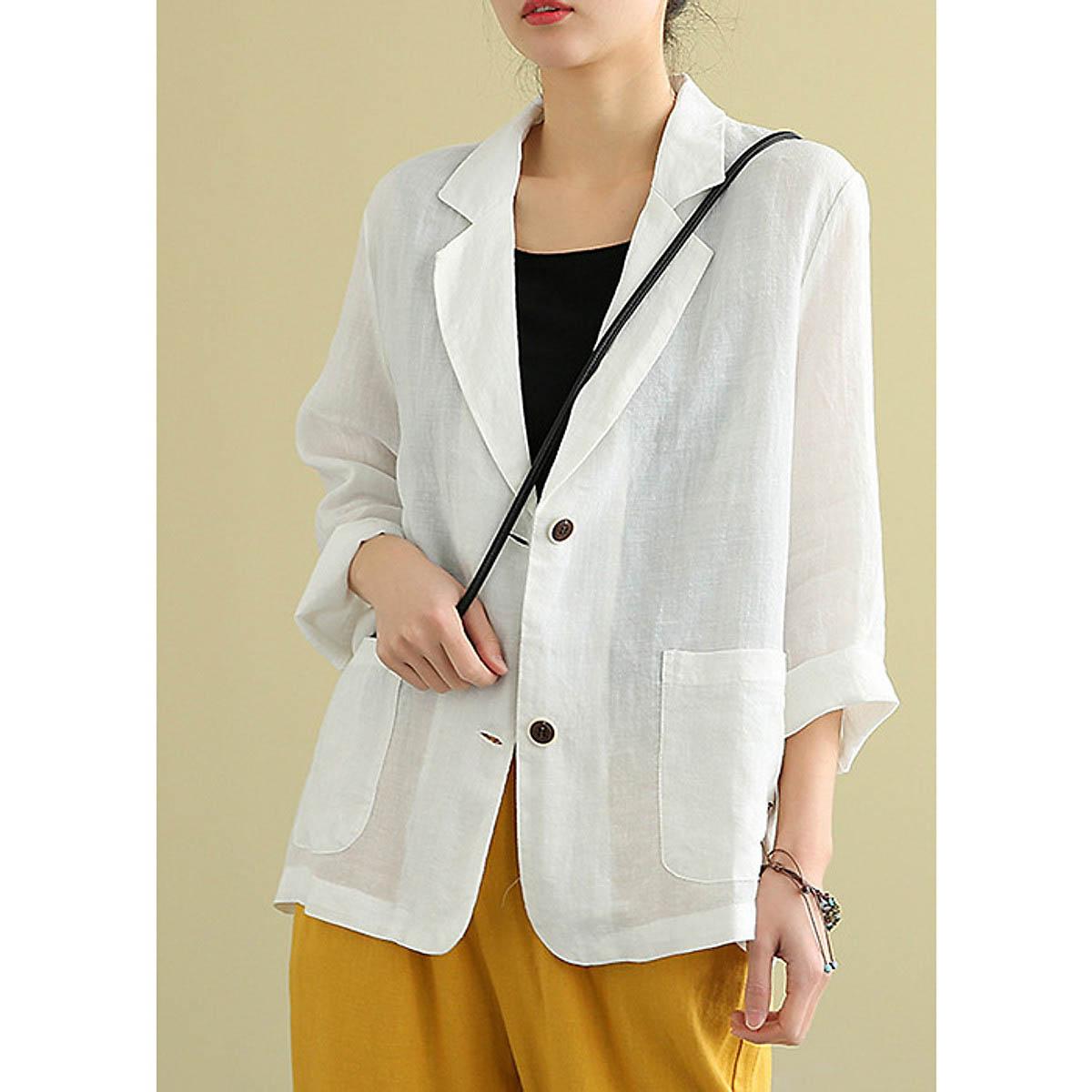Áo vest may từ vải lanh đem đến sự thoải mái cho người mặc