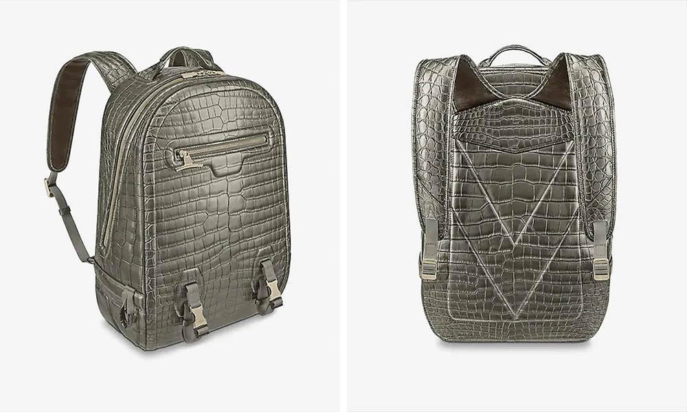 Balo Louis Vuitton Crocodilian GM backpack giá 79,000 USD