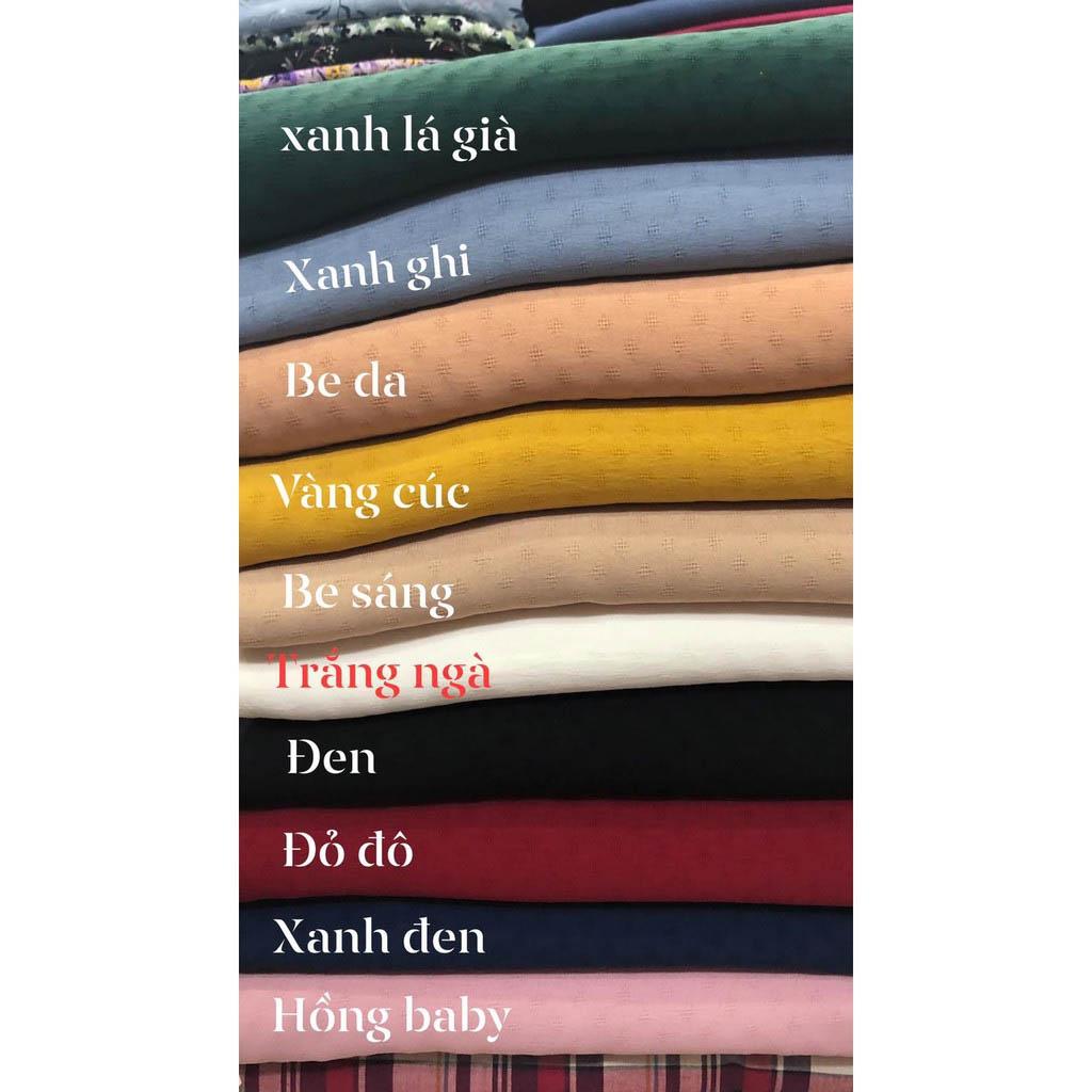Bảng màu vải thô đũi Hàn quốc