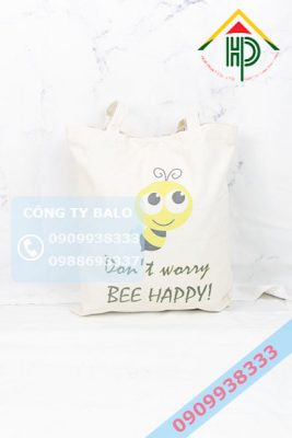 May Túi Vải Canvas BEE HAPPY