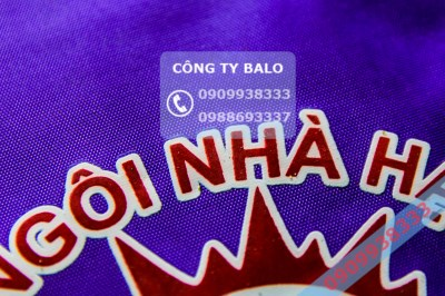 May balo mầm non mặt in