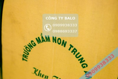 May balo mầm non Trung An mặt in