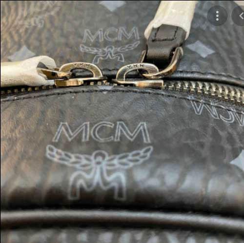 Phân biệt túi MCM dựa vào khoá kéo