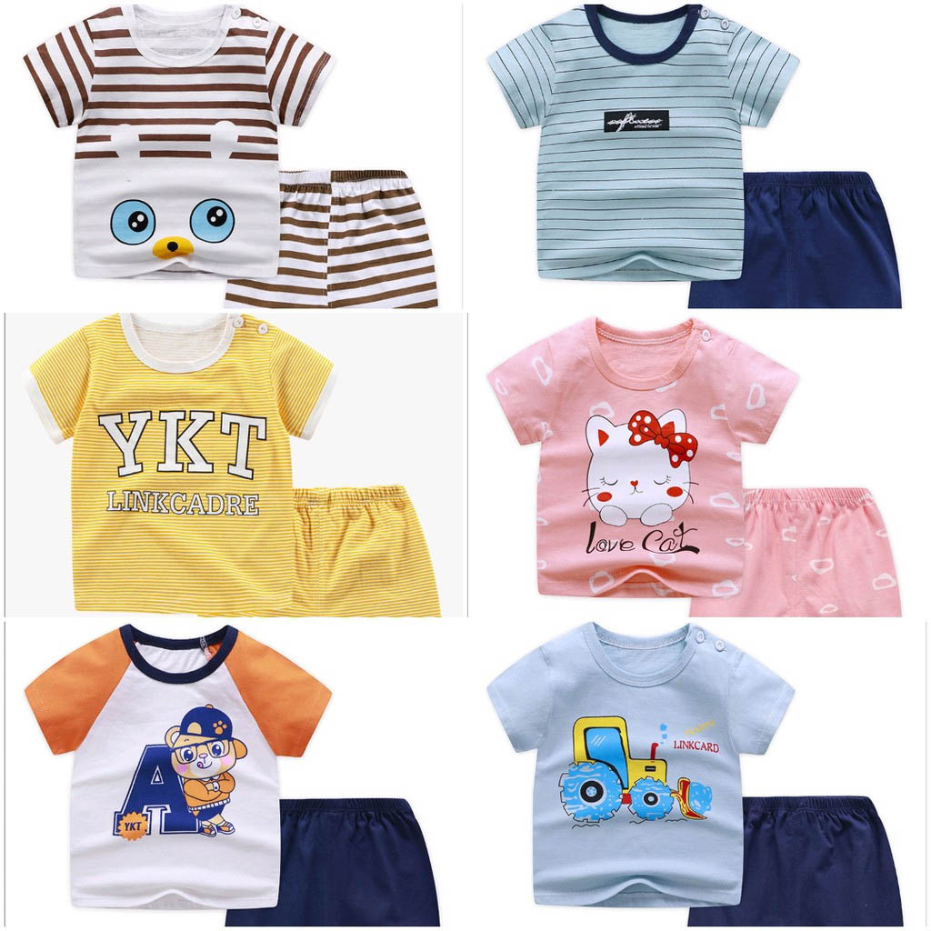 Quần áo trẻ em từ vải cotton thun
