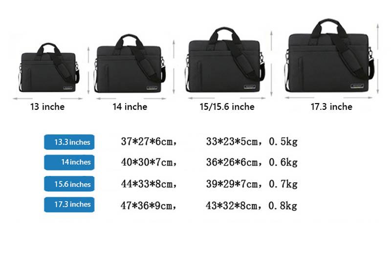 Quy đổi size túi chống sốc laptop
