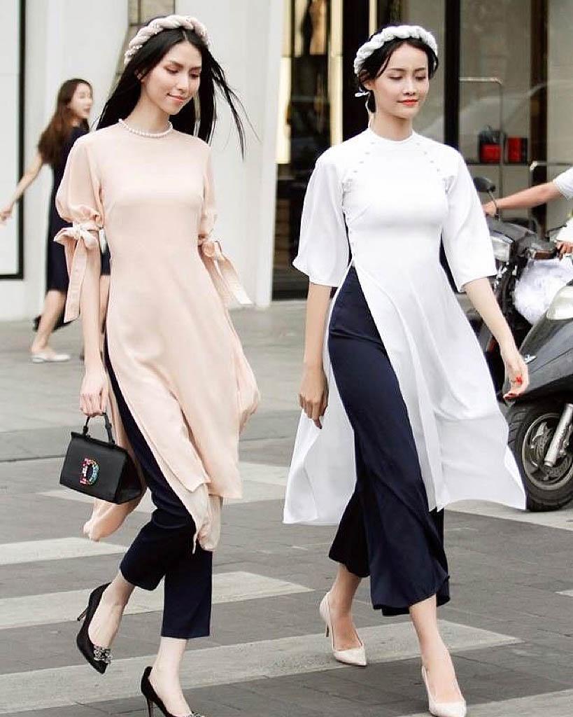 Trang phục áo dài Việt Nam hiện đại