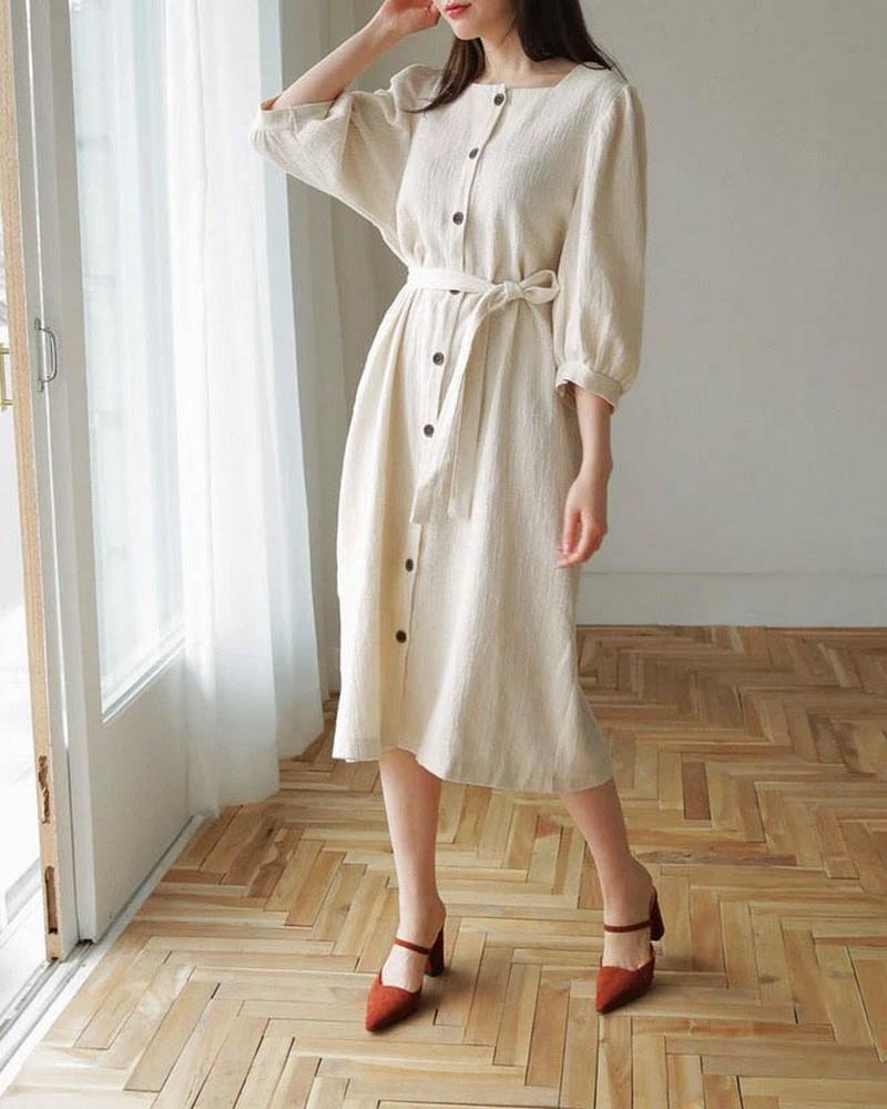 Váy vải thô