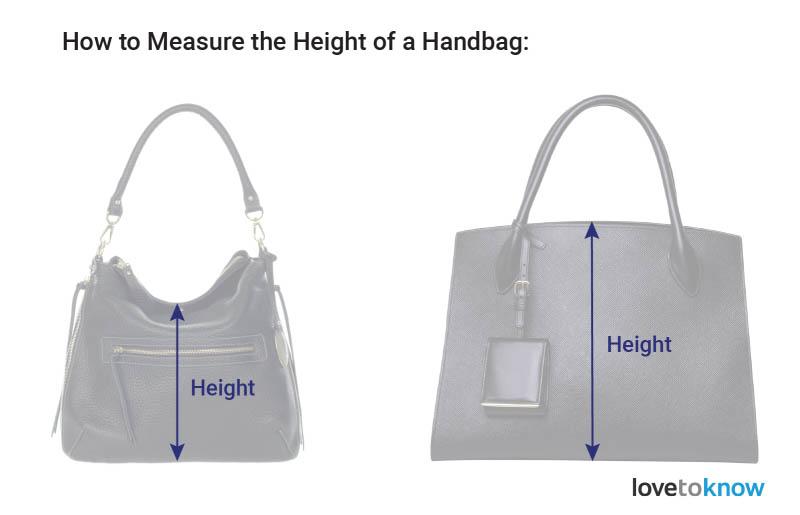 Xác định chiều dọc (chiều cao) túi xách