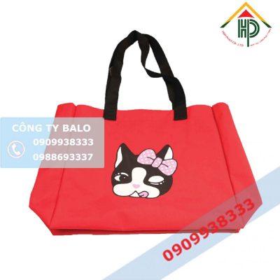 May Túi Vải Canvas Con Mèo