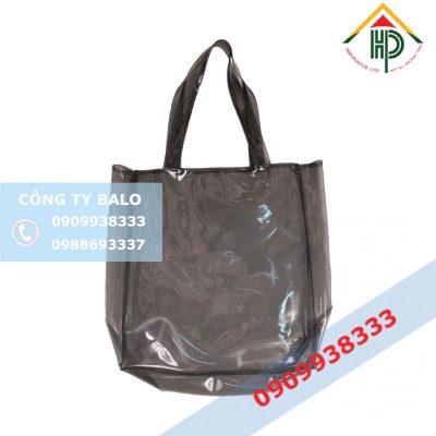 May Túi xách nhựa PVC màu Khói