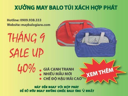 Sales tháng 9 Túi xách quảng cáo