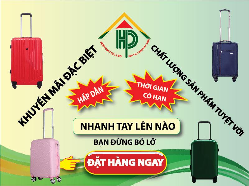 Hợp Phát chuyên sản xuất các loại vali theo yêu cầu.