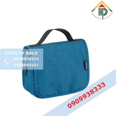 Túi đựng mỹ phẩm màu xanh Hợp Phát